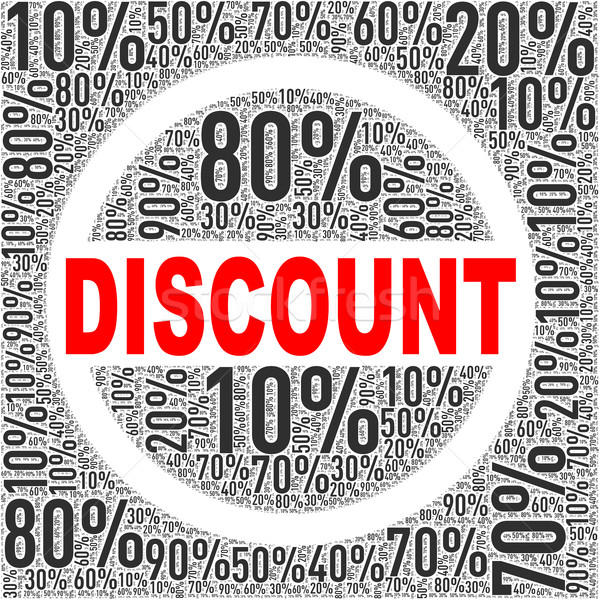 Special discount sale wordcloud tag Stock photo © nasirkhan