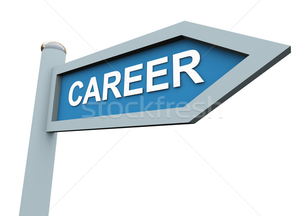 Stock photo: 3d career sign