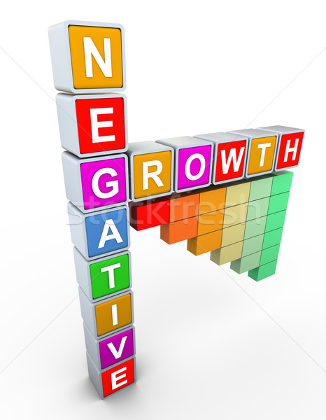 3d buzzword text 'negative grwoth' Stock photo © nasirkhan