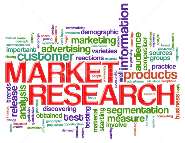 Word tags market research Stock photo © nasirkhan