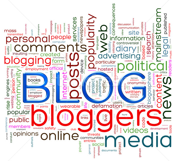 Blog mot illustration mots Photo stock © nasirkhan