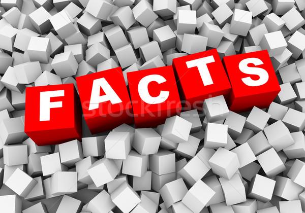 3D absztrakt kockák dobozok tények renderelt kép Stock fotó © nasirkhan