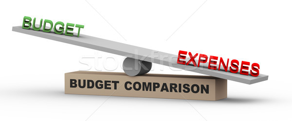3d budget and expenses on balance Stock photo © nasirkhan