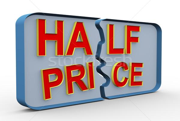 3d half price Stock photo © nasirkhan