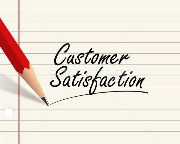Lápiz papel satisfacción del cliente ilustración escrito palabra Foto stock © nasirkhan