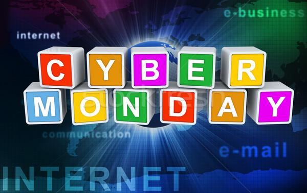3d buzzword text 'cyber monday' Stock photo © nasirkhan