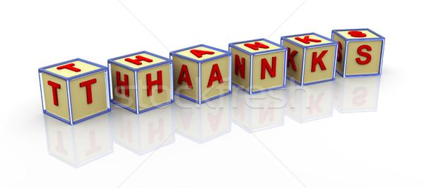 3D alfabe teşekkürler 3d render Stok fotoğraf © nasirkhan