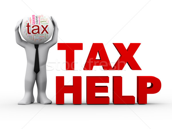 3d man tax help Stock photo © nasirkhan