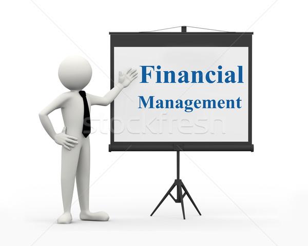 3d businessman - financial management Stock photo © nasirkhan