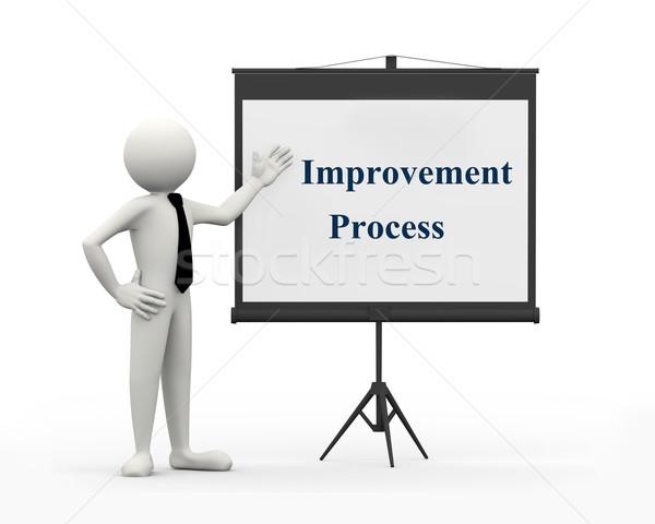 3d businessman improvement process Stock photo © nasirkhan