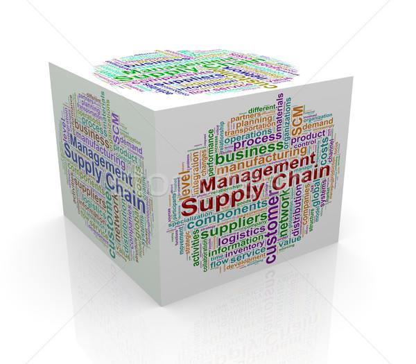 Сток-фото: 3D · куб · слово