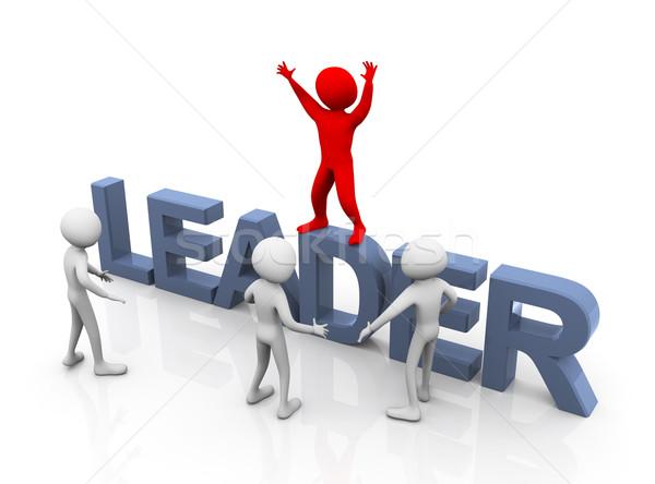 Red leader Stock photo © nasirkhan