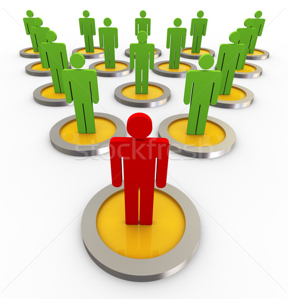 Stock photo: 3d concept of leadership
