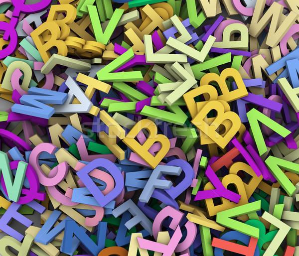 3d heap of alphabets Stock photo © nasirkhan