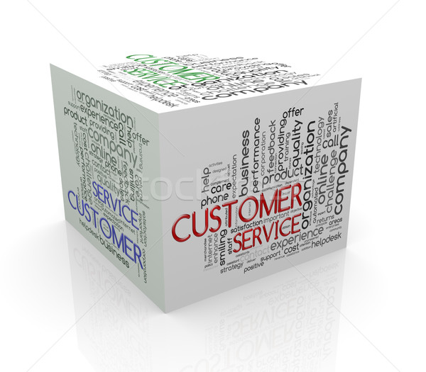 3D cube mot service clients Photo stock © nasirkhan