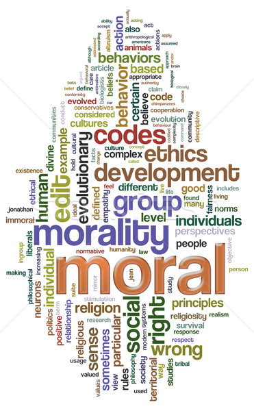 Moral wordcloud Stock photo © nasirkhan