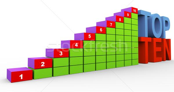 3D 先頭 10 グラフ 3dのレンダリング 10 ストックフォト © nasirkhan