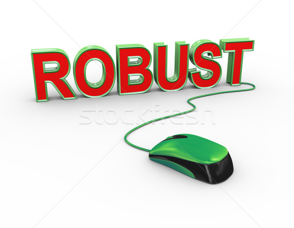 3d mouse attached to word text robust Stock photo © nasirkhan