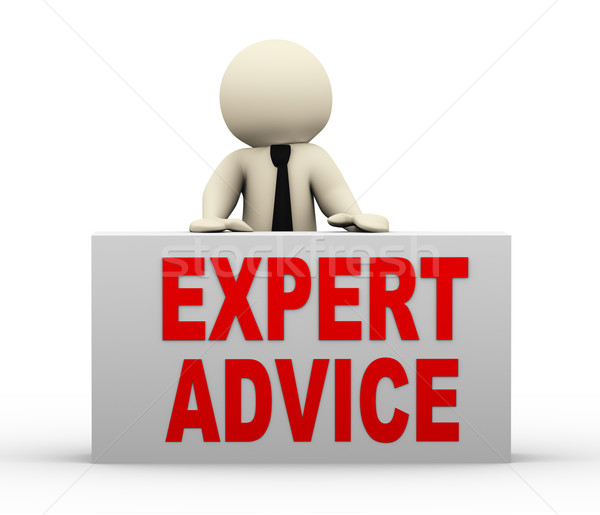 3d man - expert advice Stock photo © nasirkhan