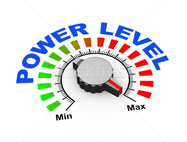3d knob - power level Stock photo © nasirkhan