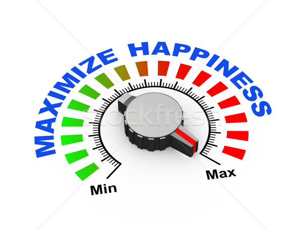 3d knob - maximize happiness Stock photo © nasirkhan