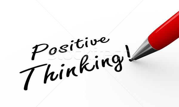 3d pen writing positive thinking illustration Stock photo © nasirkhan