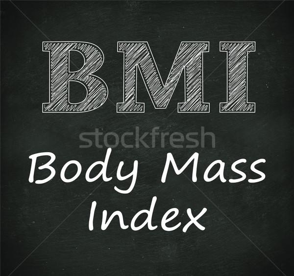 Chalkboard illustration of bmi - body mass index Stock photo © nasirkhan