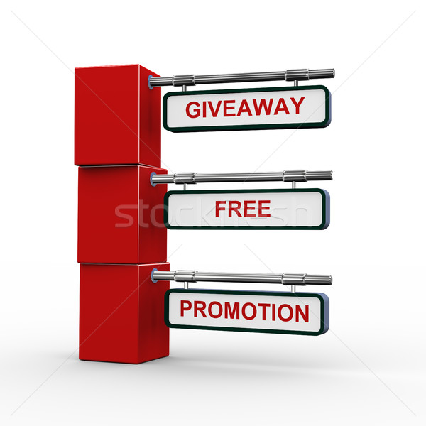 3d concept of giveaway Stock photo © nasirkhan