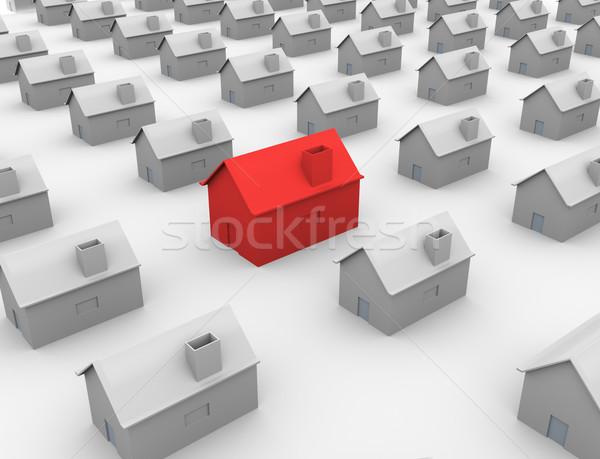 3d unique house Stock photo © nasirkhan