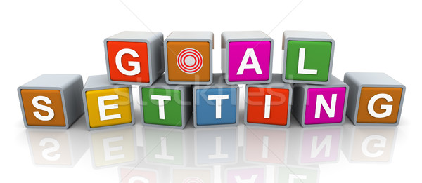 3d buzzword text 'goal setting' Stock photo © nasirkhan