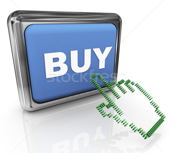 3d buy button and pointer Stock photo © nasirkhan