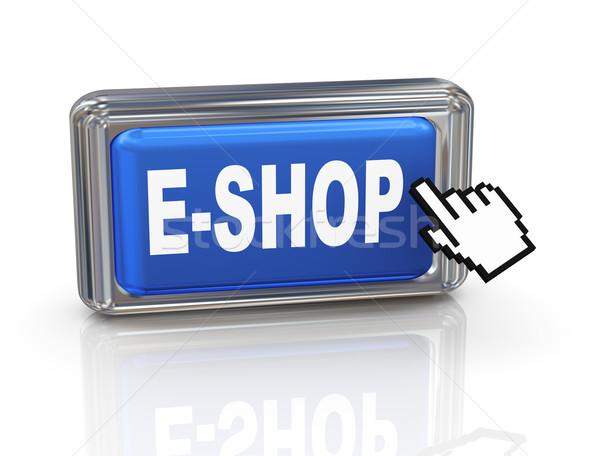 3d hand cursor button - eshop Stock photo © nasirkhan