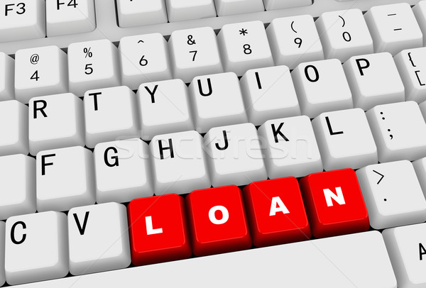 3d keyboard - word loan Stock photo © nasirkhan