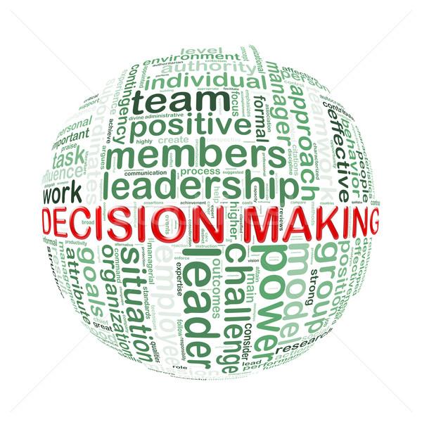 Palabra etiquetas pelota la toma de decisiones ilustración Foto stock © nasirkhan