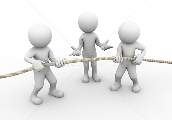 3d people tug of war Stock photo © nasirkhan