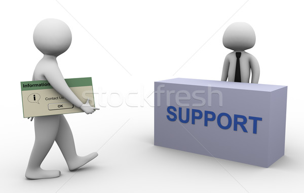 3d man contacting support Stock photo © nasirkhan