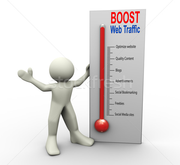 Boost web traffic Stock photo © nasirkhan