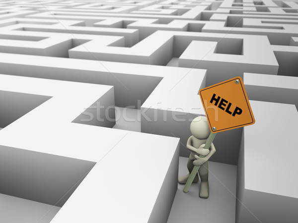 3d man in maze  Stock photo © nasirkhan