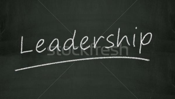 chalkboard leadership illustration Stock photo © nasirkhan