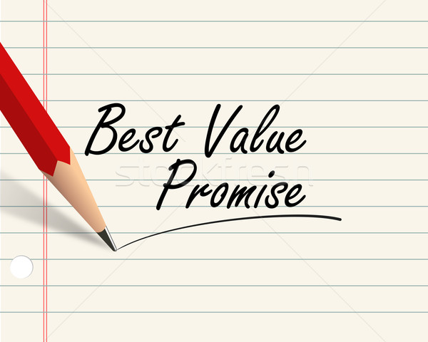 Pencil paper - best value promise Stock photo © nasirkhan