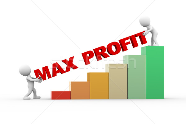 3d people with text max profit Stock photo © nasirkhan