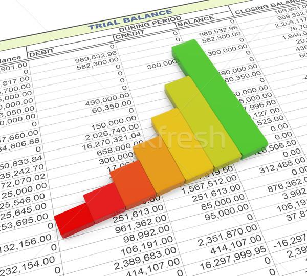 Chart on trial balance. Stock photo © nasirkhan