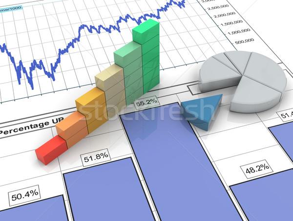 3d progress bar on financial report Stock photo © nasirkhan