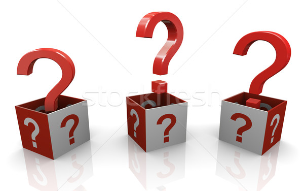 3d question marks Stock photo © nasirkhan