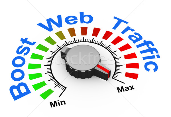 3d knob - boost web traffic Stock photo © nasirkhan