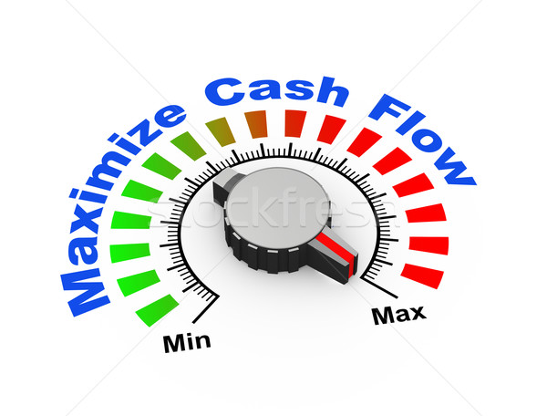 3d knob - maximize cash flow Stock photo © nasirkhan