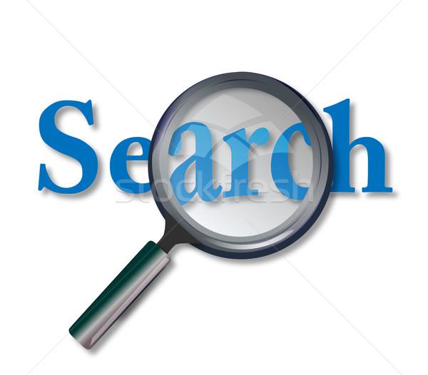 Háló keresés weboldal nagyító gép láncszem Stock fotó © nasirkhan