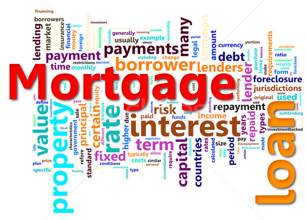Mortgage wordcloud Stock photo © nasirkhan