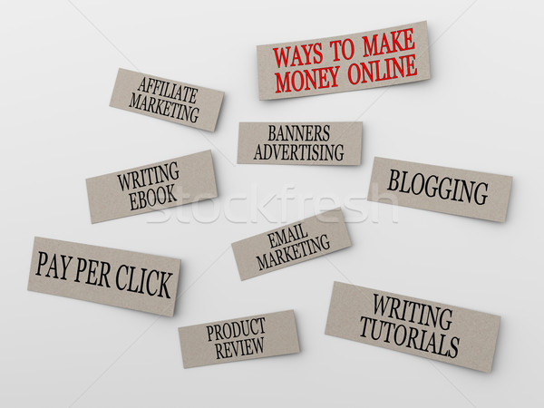 Stock photo: 3d concept of making money online