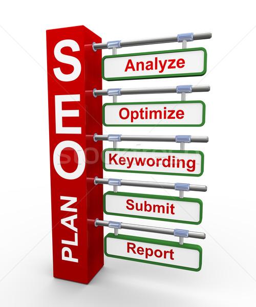 3d concept of Seo search engine optimization plan Stock photo © nasirkhan